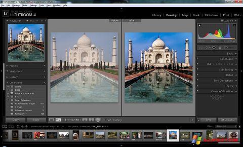 Captură de ecran Adobe Photoshop Lightroom pentru Windows XP