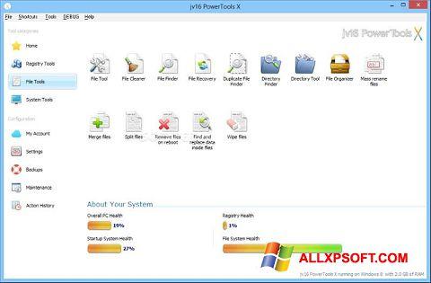 Captură de ecran jv16 PowerTools pentru Windows XP