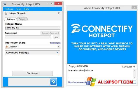 Captură de ecran Connectify Hotspot pentru Windows XP