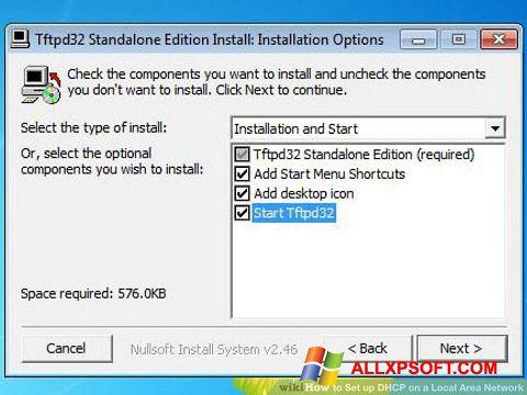 Captură de ecran Tftpd32 pentru Windows XP