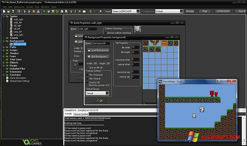 Captură de ecran GameMaker: Studio pentru Windows XP