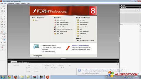 Captură de ecran Macromedia Flash Player pentru Windows XP