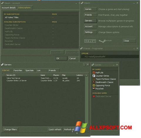 Captură de ecran Steam pentru Windows XP