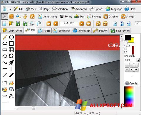 Captură de ecran PDF Reader pentru Windows XP