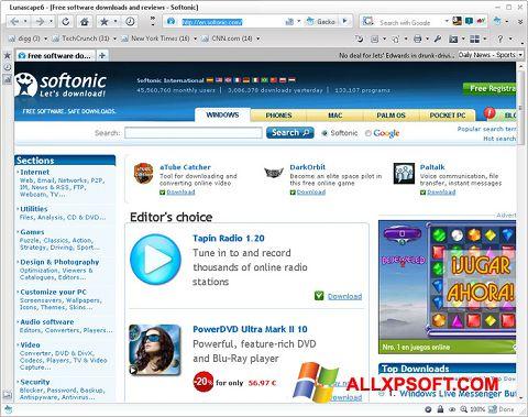 Captură de ecran Lunascape pentru Windows XP