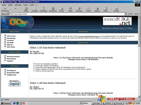 Captură de ecran CDex pentru Windows XP