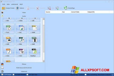 Captură de ecran Format Factory pentru Windows XP