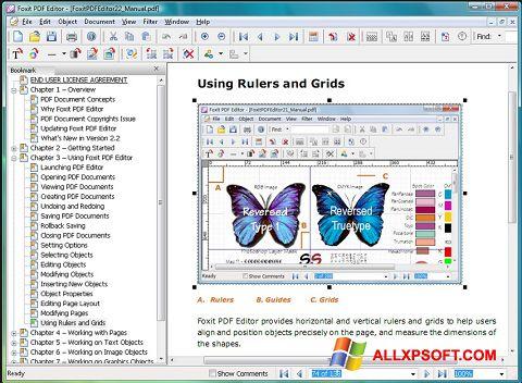 Captură de ecran Foxit Advanced PDF Editor pentru Windows XP