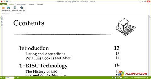 Captură de ecran Hamster PDF Reader pentru Windows XP