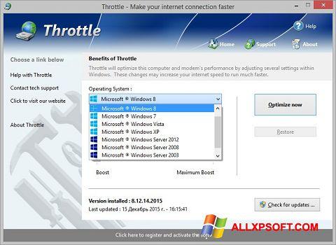 Captură de ecran Throttle pentru Windows XP