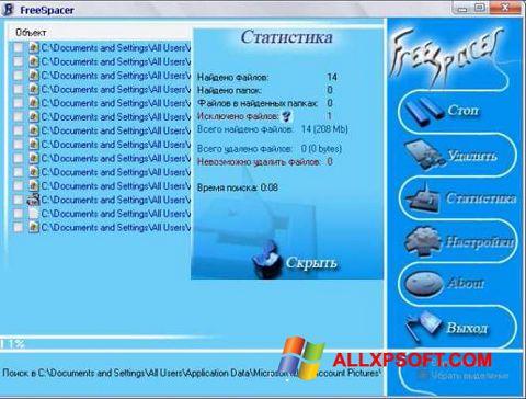 Captură de ecran FreeSpacer pentru Windows XP