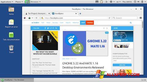 Captură de ecran Tor Browser pentru Windows XP