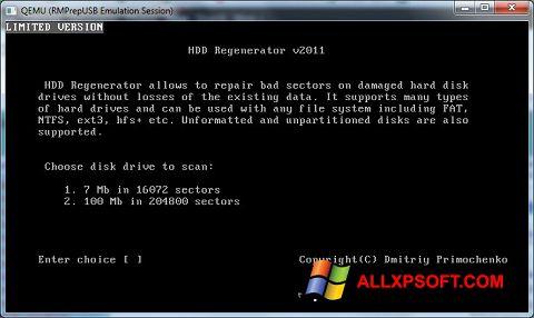 Captură de ecran HDD Regenerator pentru Windows XP