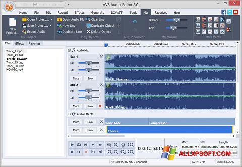 Captură de ecran AVS Audio Editor pentru Windows XP
