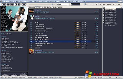Captură de ecran Foobar2000 pentru Windows XP