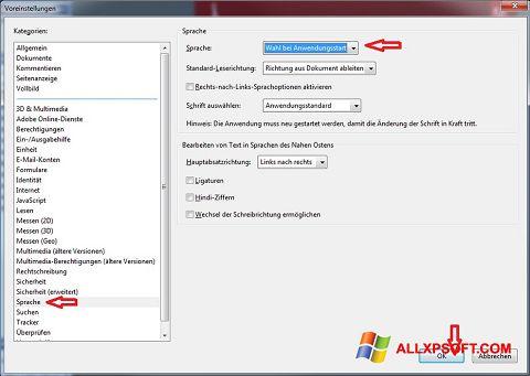 Captură de ecran Adobe Reader pentru Windows XP