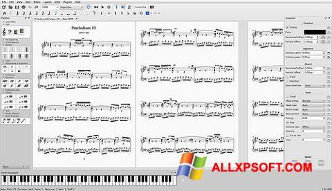 Captură de ecran MuseScore pentru Windows XP