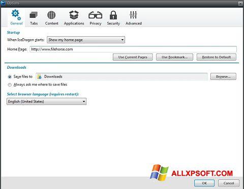 Captură de ecran Comodo IceDragon pentru Windows XP