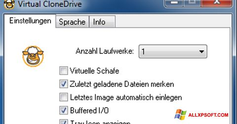Captură de ecran Virtual CloneDrive pentru Windows XP