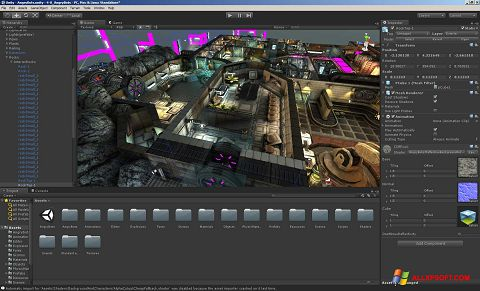 Captură de ecran Unity 3D pentru Windows XP