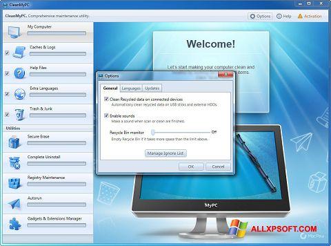 Captură de ecran CleanMyPC pentru Windows XP