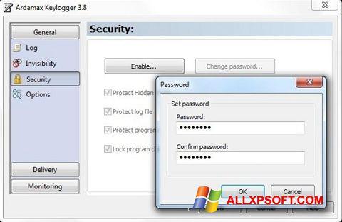 Captură de ecran Ardamax Keylogger pentru Windows XP