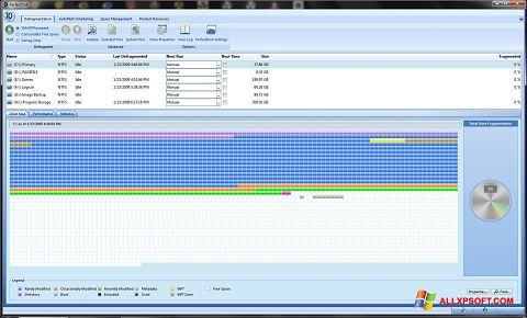 Captură de ecran PerfectDisk pentru Windows XP