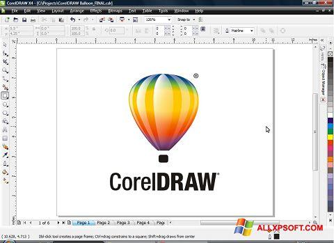 Captură de ecran CorelDRAW pentru Windows XP