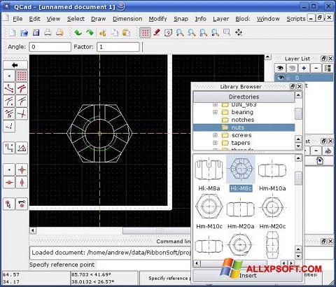 Captură de ecran QCad pentru Windows XP