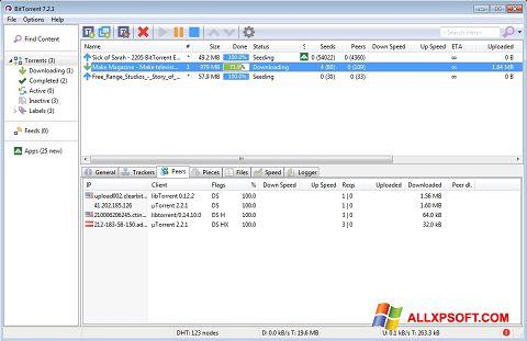 Captură de ecran BitTorrent pentru Windows XP