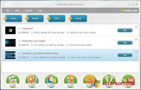 Captură de ecran Freemake Video Converter pentru Windows XP