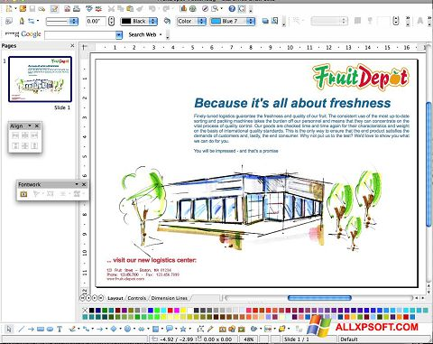 Captură de ecran Apache OpenOffice pentru Windows XP