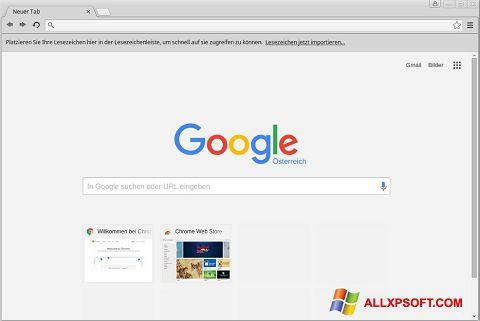 Captură de ecran Google Chrome pentru Windows XP