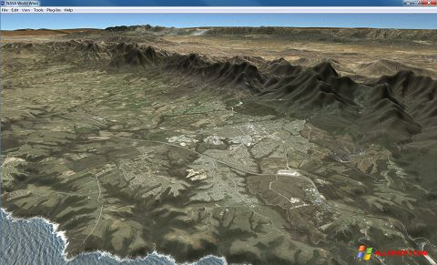 Captură de ecran NASA World Wind pentru Windows XP