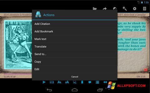 Captură de ecran AlReader pentru Windows XP