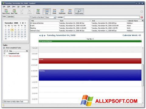 Captură de ecran Mozilla Sunbird pentru Windows XP