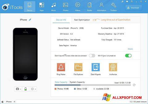 Captură de ecran iTools pentru Windows XP