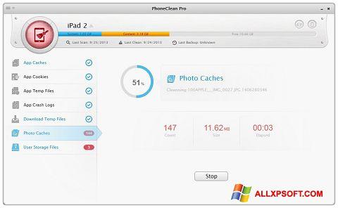 Captură de ecran PhoneClean pentru Windows XP