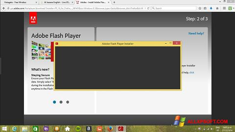 Captură de ecran Adobe Flash Player pentru Windows XP