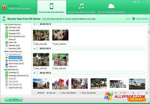 Captură de ecran iPhone Data Recovery pentru Windows XP