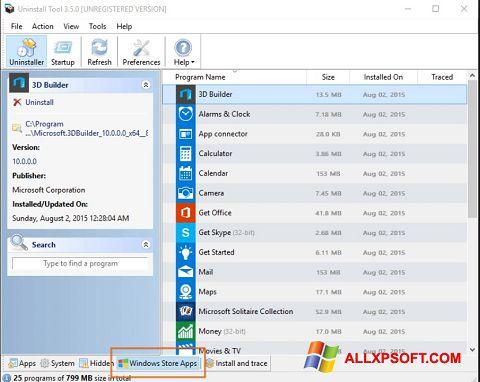 Captură de ecran Uninstall Tool pentru Windows XP