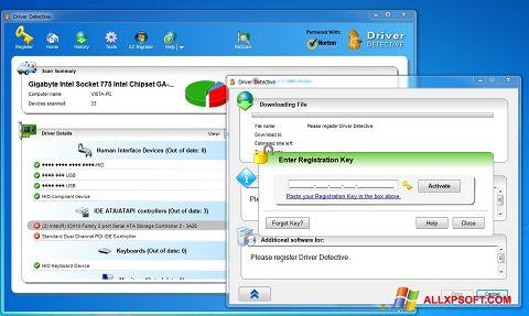Captură de ecran Driver Detective pentru Windows XP