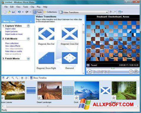 Captură de ecran Windows Movie Maker pentru Windows XP