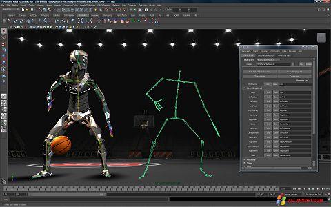 Captură de ecran Autodesk Maya pentru Windows XP