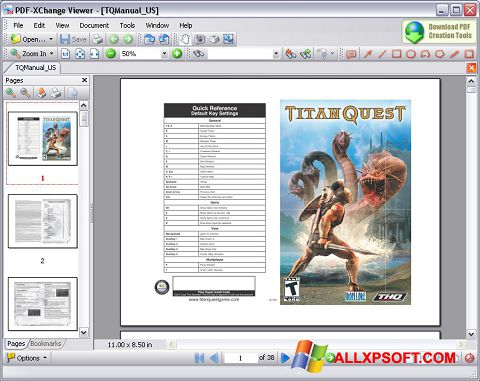 Captură de ecran PDF-XChange Viewer pentru Windows XP