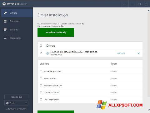 Captură de ecran DriverPack Solution pentru Windows XP