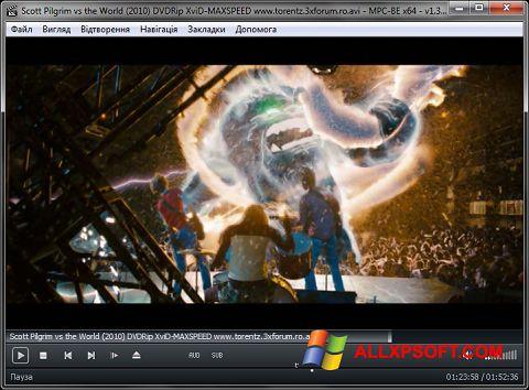 Captură de ecran MPC-BE pentru Windows XP