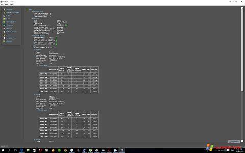 Captură de ecran Speccy pentru Windows XP