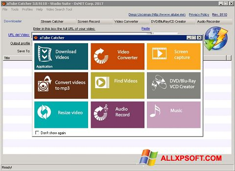 Captură de ecran aTube Catcher pentru Windows XP