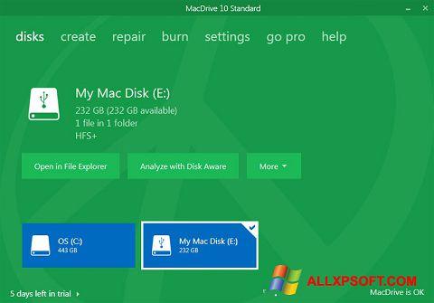 Captură de ecran MacDrive pentru Windows XP